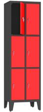 00150499 Szafa skrytkowa na nogach, 2 segmenty, 6 skrytek (wymiary: 2010x610x480 mm)