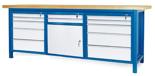 00853667 Stół warsztatowy, 1 drzwi 12 szuflad (wymiary: 2100x900x740 mm)