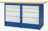 00853684 Stół warsztatowy, 8 szuflad (wymiary: 1500x900x740 mm)