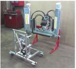02938349 Belka herbicydowa BHh - sterowanie hydrauliczne, dwustronna, ocynkowana (liczba dysz: 4, średnia szerokość robocza: 2,8m)