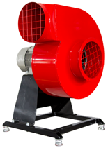 08549415 Wentylator promieniowy stacjonarny z ramą amortyzującą i z ramą amortyzującą WPA-13-E-3-N-S 400V (obroty synchroniczne: 3000 1/min, moc: 7,5 kW, wydajność wentylatora: 10800 m3/h)