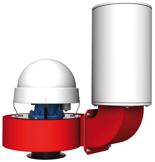 08549471 Wentylator przeciwwybuchowy promieniowy dachowy z wylotem pionowym WPA-10-D/Ex (obroty synchroniczne: 3000 1/min, moc: 4 kW, wydajność wentylatora: 7400 m3/h)