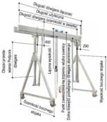 12853707 Aluminiowa suwnica bramowa z podwójnym dźwigarem i wciągnikiem (szerokość w świetle: 5000mm, wysokość: 2360/2710mm, udźwig: 2000 kg)