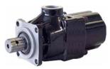 72355229 Pompa hydrauliczna tłoczkowa prosta do wywrotu - lewy i prawy kierunek obrotów (objętość geometryczna: 48 cm3/obr, zakres obr: 300-1800, maks. ciśnienie pracy ciągłej: 35 MPa)