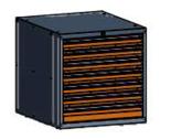 99551583 Szafka typ P, 7 szuflad 100+75+75+75+75+75+75 (wymiary: 625x600x690 mm)