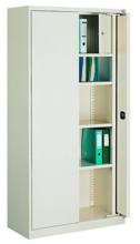 99551662 Szafa biurowa 0,7mm, 2 drzwi, 4 półki, skrytka (wymiary: 1990x1000x435 mm)