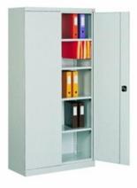 99551693 Szafa biurowa 1,0mm, 2 drzwi, 4 półki (wymiary: 1990x1000x435 mm)