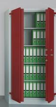 99551736 Szafa aktowa wzmocniona o podwyższonej odporności ogniowej, 2 drzwi , 4 półki (wymiary: 1950x950x550 mm)