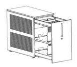 99551917 Szafka przybiurkowa, 2 półki, front z melaminy (wymiary: 750x438x800 mm)