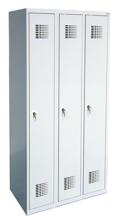 99551930 Szafka ubraniowa 0,5mm, 3 drzwi, zamek cylindryczny zamykany w 1 punkcie (wymiary: 1800x900x500 mm)