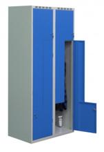 99552224 Szafka ubraniowa 0,8-1,0mm, 4 drzwi w kształcie L (wymiary: 1800x800x490 mm)