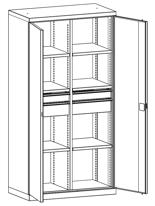 99552486 Szafa warsztatowa, 6 półek, 4 szuflady (wymiary: 1950x1000x540 mm)