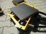 DOSTAWA GRATIS! 12267441 Wózek skrętny 8 rolkowy z prostokątną płytą nośną, rolki: 8x nylon (nośność: 6 T)