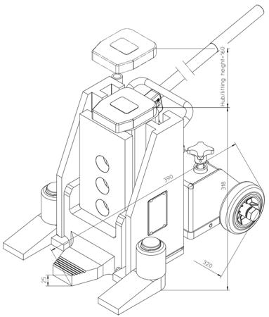 4994012 Podnośnik hydrauliczny V15 (nośność: 15T)