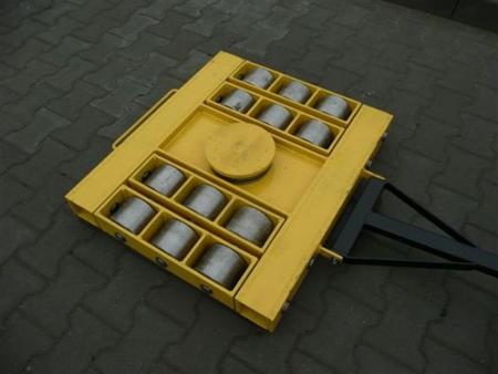DOSTAWA GRATIS! 12235608 Wózek skrętny 12 rolkowy, rolki: 12x stal (nośność: 60 T)