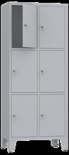 00150506 Szafa skrytkowa na nogach, 2 segmenty, 6 skrytek (wymiary: 2010x810x480 mm)