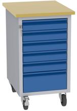 001506676 Wózek platformowy, 6 szuflad (wymiary: 830x505x605 mm)