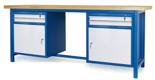 00853648 Stół warsztatowy, 2 drzwi, 4 szuflady (wymiary: 2100x900x740 mm)