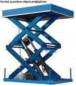 01862165 Podnośnik, podest nożycowy (udźwig: 500 kg, wymiary platformy: 1410x1320mm, wysokość podnoszenia min/max: 400-1800 mm, moc: 1,1kW)