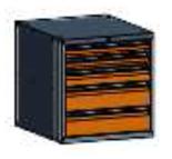 99551580 Szafka typ M, 5 szuflad 150+150+100+75+75 (wymiary: 625x600x690 mm)
