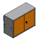 99551592 Szafka wisząca wąska, 2 drzwi (wymiary: 418x596x250 mm)