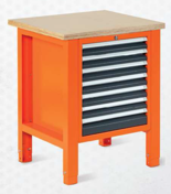 99551599 Stół warsztatowy, 7 szuflad (wymiary: 850-900x725x620 mm)