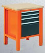 99551602 Stół warsztatowy, 4 szuflady (wymiary: 850-900x725x620 mm)