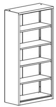 99551722 Regał zamknięty, 4 półki (wymiary: 1990x1200x435 mm)