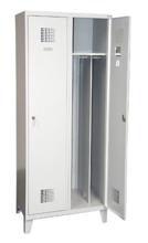99551929 Szafka ubraniowa 0,5mm na nóżkach, 2 drzwi, zamek cylindryczny zamykany w 3 punktach (wymiary: 1940x600x500 mm)
