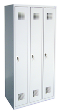 99551974 Szafka ubraniowa 0,8mm, 3 drzwi, zamek cylindryczny zamykany w 1 punkcie (wymiary: 1800x1200x500 mm)