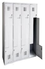 99551984 Szafka ubraniowa 0,5mm, 8 drzwi w kształcie L (wymiary: 1800x1200x500 mm)