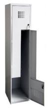 99551992 Szafka ubraniowa 0,8mm, 2 drzwi w kształcie L (wymiary: 1800x300x500 mm)