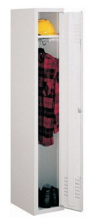 99552135 Szafka ubraniowa 0,6mm, zamek ryglujący drzwi w 3 punktach, 1 drzwi (wymiary: 1800x400x490 mm)