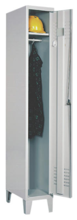 99552136 Szafka ubraniowa 0,6mm na nóżkach, zamek na kłódkę, 1 drzwi (wymiary: 1940x400x490 mm)