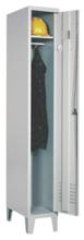 99552137 Szafka ubraniowa 0,6mm na nóżkach, zamek ryglujący drzwi w 3 punktach, 1 drzwi (wymiary: 1940x400x490 mm)
