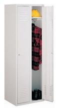 99552138 Szafka ubraniowa 0,6mm, zamek na kłódkę, 2 drzwi (wymiary: 1800x800x490 mm)