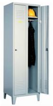 99552142 Szafka ubraniowa 0,6mm na nóżkach, zamek ryglujący drzwi w 3 punktach, 2 drzwi (wymiary: 1940x800x490 mm)