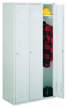99552156 Szafka ubraniowa 0,8mm, zamek na kłódkę, 3 drzwi (wymiary: 1800x900x490 mm)