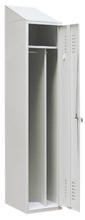 99552193 Szafka ubraniowa ze skośnym daszkiem 0,8mm, zamek ryglujący drzwi w 3 punktach, 1 drzwi (wymiary: 2000x400x490 mm)