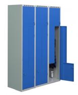 99552225 Szafka ubraniowa 0,8-1,0mm, 6 drzwi w kształcie L (wymiary: 1800x1200x490 mm)