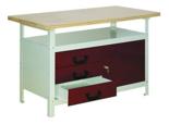 99552444 Stół warsztatowy, 1 drzwi, 3 szuflady (wymiary: 750x1200x600 mm)