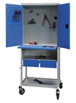 99552467 Szafa warsztatowa na kółkach, 2 szuflady, 2 drzwi (wymiary: 1930x815x600 mm)