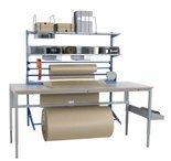99767959 Zestaw do pakowania + Solidny stół warsztatowy GermanTech z regulacją wysokości 720-970mm (maks. obciążenie: 150 kg, wymiary: 1600x800mm)