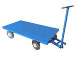 DOSTAWA GRATIS! 13340566 Wózek platformowy ręczny (koła: pneumatyczne 300 mm, nośność: 1500 kg, wymiary: 1000x2000 mm)