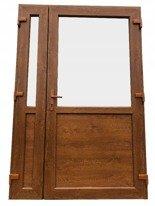 DOSTAWA GRATIS! 26269166 Drzwi zewnętrzne sklepowe (kolor: złoty dąb, strona: lewa, szerokość: 140 cm)