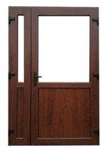 DOSTAWA GRATIS! 26269173 Drzwi zewnętrzne sklepowe (kolor: orzech, strona: prawa, szerokość: 140 cm)
