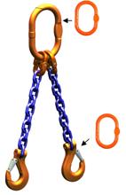 DOSTAWA GRATIS! 33948221 Zawiesie łańcuchowe dwucięgnowe klasy 10 miproSling AS 26,5/19,0 (długość łańcucha: 1m, udźwig: 19-26,5 T, średnica łańcucha: 22 mm, wymiary ogniwa: 340x180 mm)