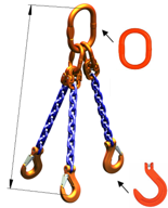 DOSTAWA GRATIS! 33948278 Zawiesie łańcuchowe trzycięgnowe klasy 10 miproSling KFW 14,0/10,0 (długość łańcucha: 1m, udźwig: 10-14 T, średnica łańcucha: 13 mm, wymiary ogniwa: 200x110 mm)