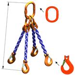 DOSTAWA GRATIS! 33948292 Zawiesie łańcuchowe czterocięgnowe klasy 10 miproSling KHSW 30,0/21,2 (długość łańcucha: 1m, udźwig: 21,2-30 T, średnica łańcucha: 19 mm, wymiary ogniwa: 350x190 mm)