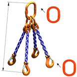 DOSTAWA GRATIS! 33948294 Zawiesie łańcuchowe czterocięgnowe klasy 10 miproSling A8W 14,0/10,0 (długość łańcucha: 1m, udźwig: 10-14 T, średnica łańcucha: 13 mm, wymiary ogniwa: 200x110 mm)